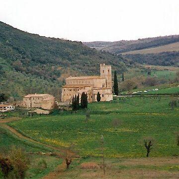 Abbey of Sant'Antimo, Tuscany by presbi