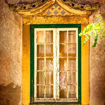 old window with a roof by terezadelpilar
