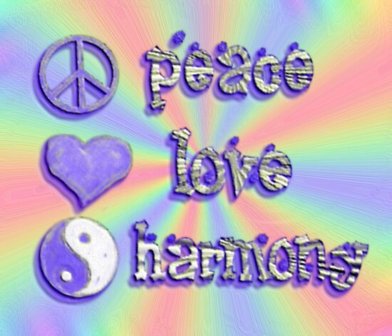 peace love harmony by artbyjehf redbubble. Black Bedroom Furniture Sets. Home Design Ideas