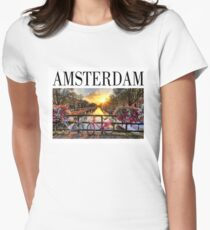 AMSTERDAM 1 - CITY Women's Fitted T-Shirt