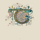 Celtic Initial T by Thoth Adan