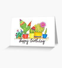 Cactus Birthday Greeting Card
