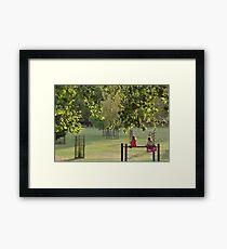 Green Pink Play Framed Print