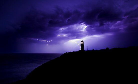 The gallery for --> Lighthouse At Night Storm
