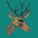 Tribal Deer © feathers & eggshells - wild new things are born by wildnewthings
