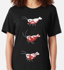 Red and blue shrimp Slim Fit T-Shirt