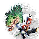 Slash Dinosaur Hockey Player by MudgeStudios