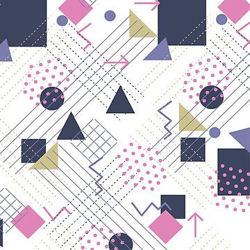 Modern random geometric shapes pattern by artonwear