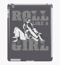 Roll Like A Girl Art | Cute Brazilian Martial Arts Gift iPad Case/Skin