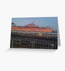 Staten Island Ferry at Rest Greeting Card