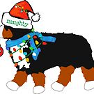 Christmas Bernese Mountain Naughty Dog by emrdesigns