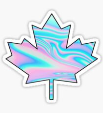Holographic Canadian Maple Leaf Sticker