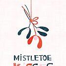 Mistletoe Kisses card by Lidiebug