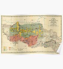 Vintage Geological Map of The Mount Everest Region (1921) Poster