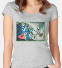 SURF GUITAR Women's Fitted Scoop T-Shirt