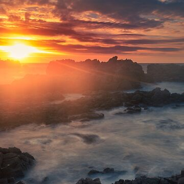Sunset over Cobo bay  Guernsey by chris2766
