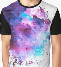 Purple and Blue abstract Graphic T-Shirt