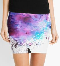 Purple and Blue abstract Mini Skirt