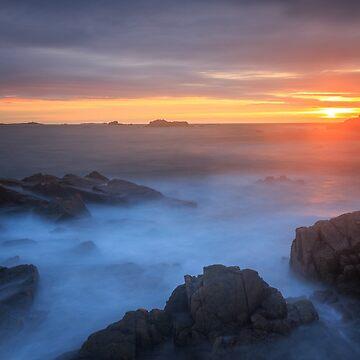 Sunset Cobo bay  Guernsey  by chris2766