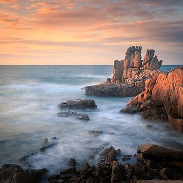 Cobo bay Sunset Guernsey  by chris2766