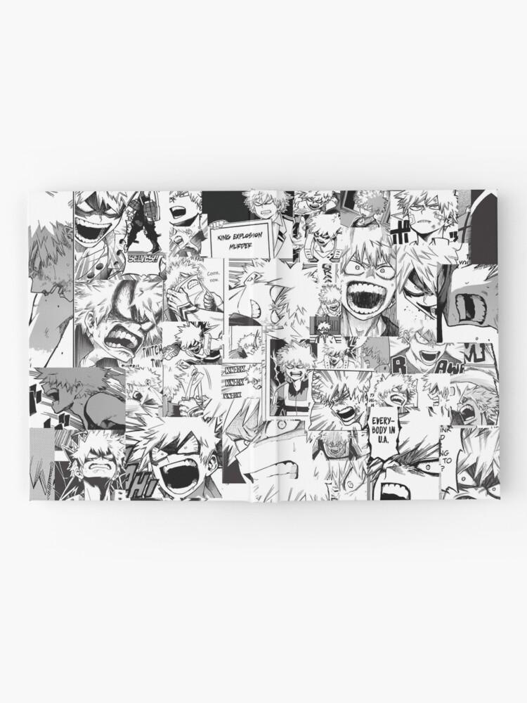 Angry Bakugou Katsuki Collage Hardcover Journal