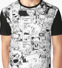 Camiseta gráfica bakugou enojado collage de katsuki