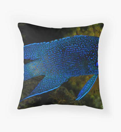 Southern Blue Devil Throw Pillow