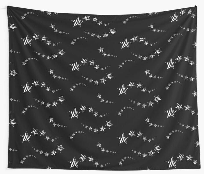 Zebra print monochrome shooting stars by chihuahuashower