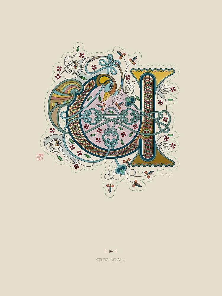 Celtic Initial U by Thoth-Adan