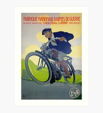 Lámina artística Cartel de la bici de Bélgica del vintage