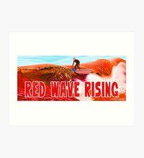Red Wave Rising Art Print