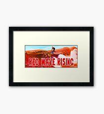 Red Wave Rising Framed Print