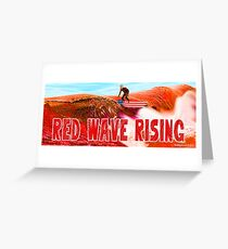 Red Wave Rising Greeting Card