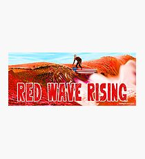 Red Wave Rising Photographic Print