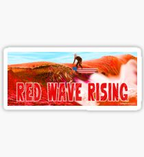 Red Wave Rising Sticker