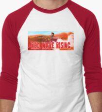 Red Wave Rising Men's Baseball ¾ T-Shirt