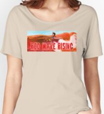 Red Wave Rising Women's Relaxed Fit T-Shirt