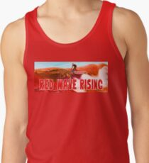 Red Wave Rising Tank Top