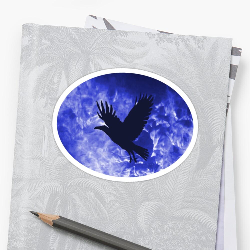 Night crow Sticker