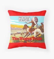 The Wagon Train Throw Pillow