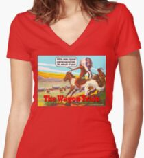 The Wagon Train Women's Fitted V-Neck T-Shirt