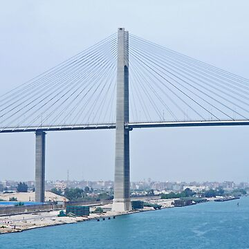 AUTO BRIDGE OVER SUEZ CANAL by JAYMILO