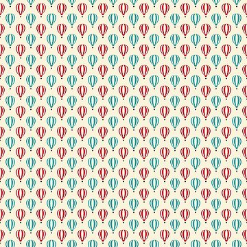 Cozy and warm retro style big hot air balloon pattern by ShineEyePirate