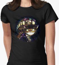 Cat Bus und Totoro sind in deiner Stadt Tailliertes T-Shirt