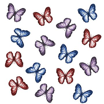 Colorful Watercolor Butterfly Pattern by erika-lancaster