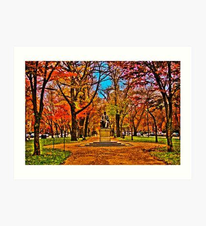 Commonwealth Ave, Boston Art Print