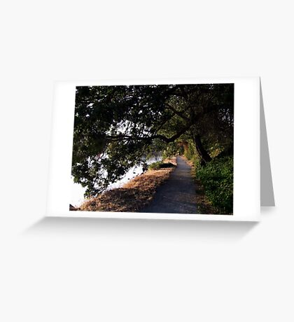 A Walk at Dusk Greeting Card