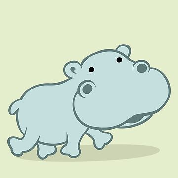 Baby Hippo by soniapascual
