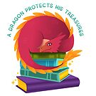 A Dragon Protects His Treasures (books) by BunnyThePainter