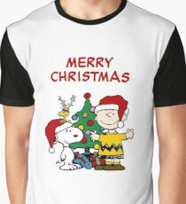 Snoopy Merry Christmas Graphic T-Shirt